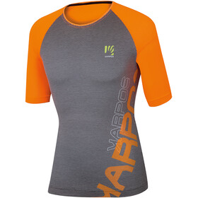 Karpos Moved Evo Maillot de cyclisme Homme, orange fluo/black